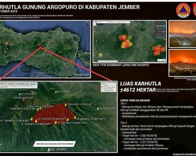 BPBD Masih Kesulitan Padamkan Api di Lereng Atas Pegunungan Argopuro